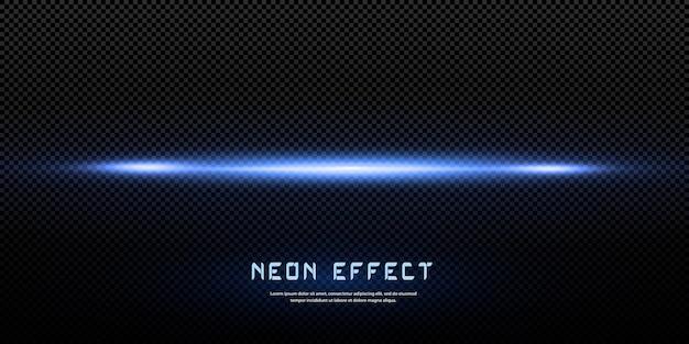 ライト効果、青いネオンライト Premiumベクター