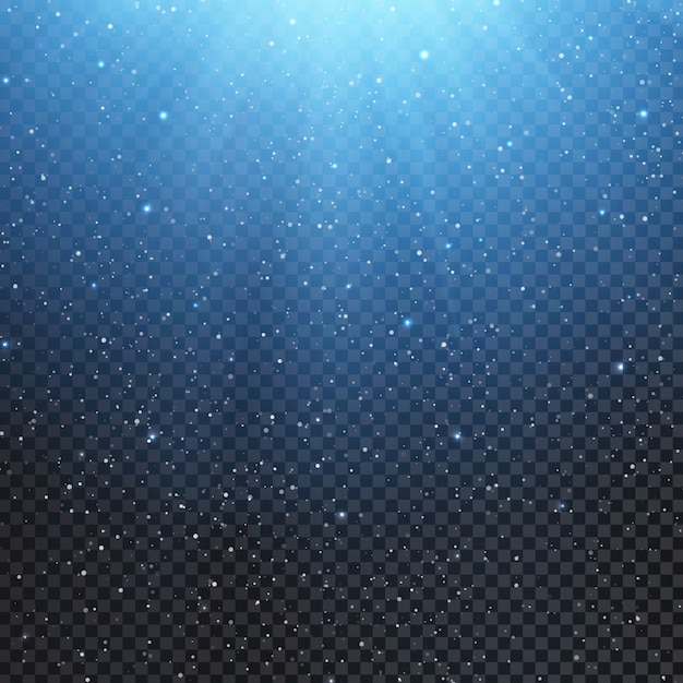 light effect overlay with falling snow vector premium download
