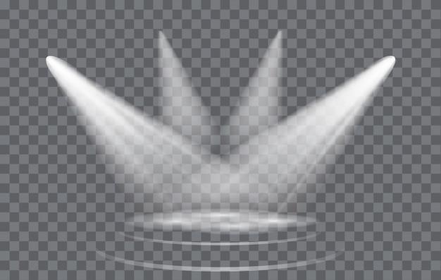 Light effect spotlight with transparent background Premium Vector