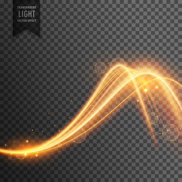Light effect with waves Free Vector