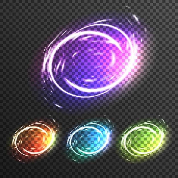 Light effects sparkles transparent composition Premium Vector