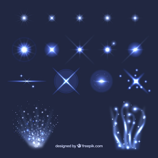 Light effects Premium Vector