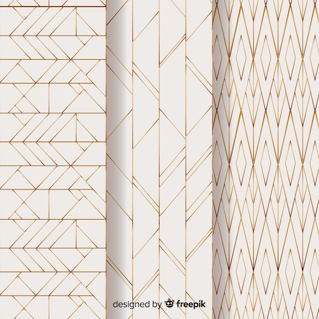 Light geometric pattern pack Free Vector