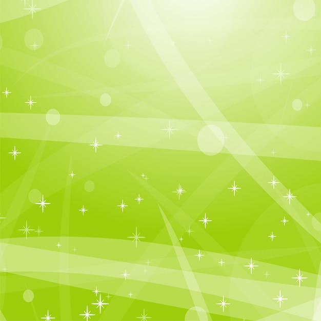 Light green abstract background with stars, circles and stripes. Premium Vector