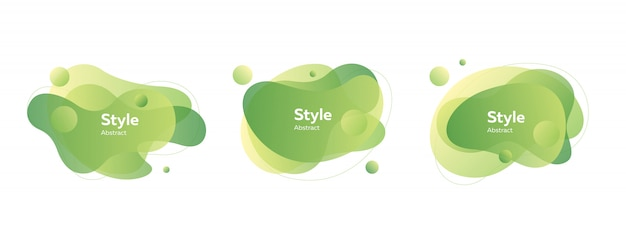 Light green bubble badges Free Vector