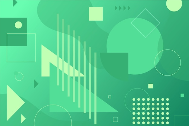 Light green shapes on green background Free Vector