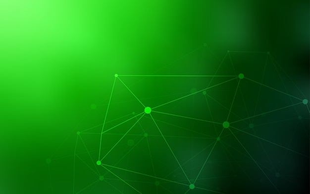 Light Green Vector Background With Dots And Lines Vector Premium