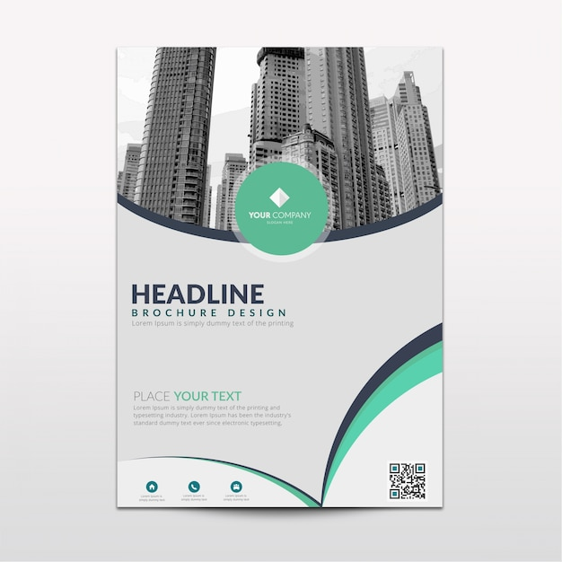 Light green vector brochure template Free Vector