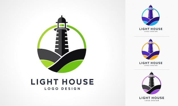 Light house logo set Premium Vector