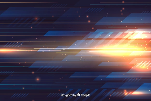 Light movement background with abstract shapes Free Vector