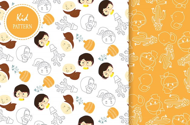Light orange white seamless pattern Premium Vector