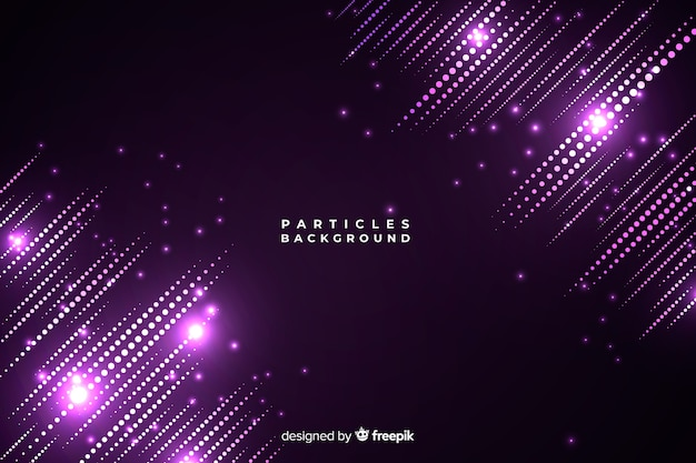 Light particles background Free Vector