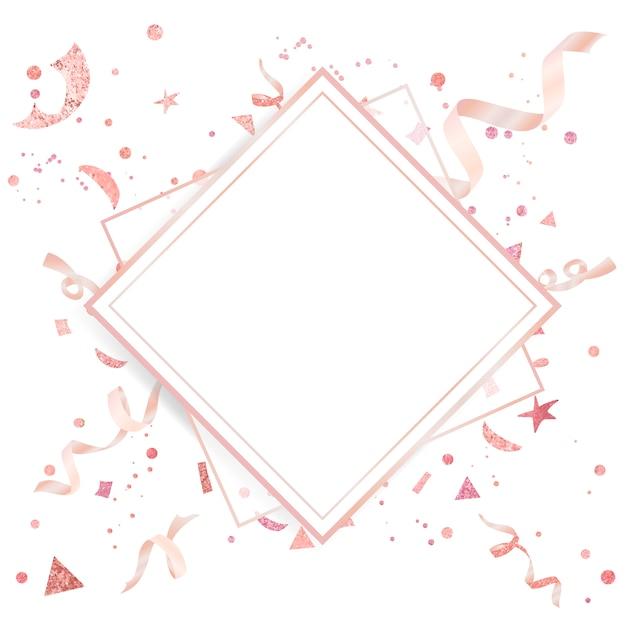 Light pink confetti celebratory design Free Vector