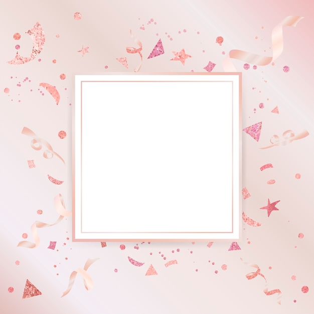 Light pink confetti celebratory design Free Vector