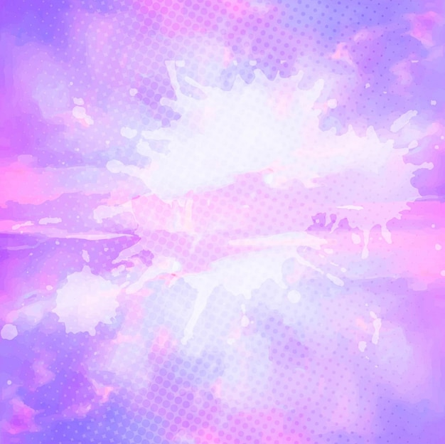 light purple watercolor background vector free download