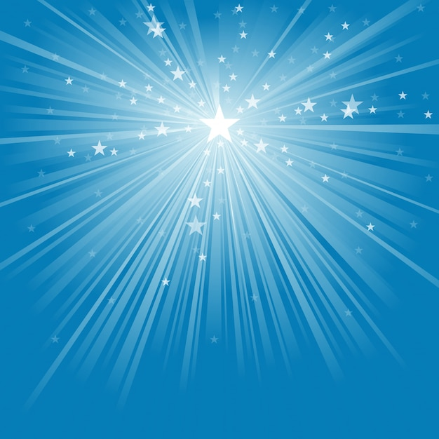 Light rays and stars background Premium Vector