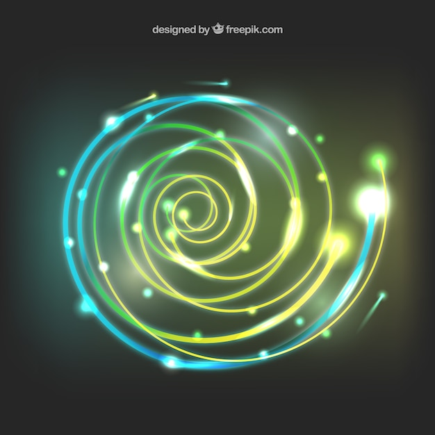 Light spiral background Free Vector