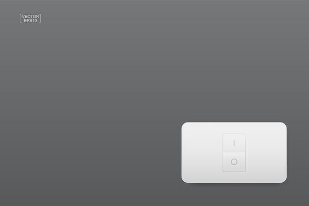 灰色の背景のライトスイッチ Premiumベクター
