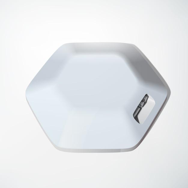 육각형 구조의 가벼운 usb 허브 장치 개념 및 격리 된 흰색에 여러 포트 무료 벡터