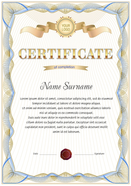 Light Vintage Certificate Blank Template Vector Premium Download