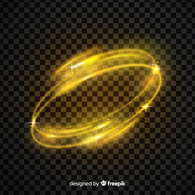 Light yellow whirl effect Free Vector