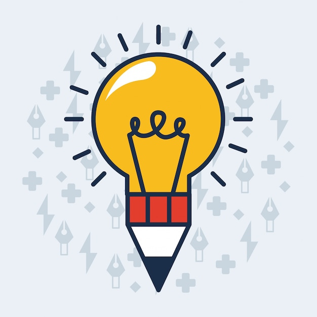 Lightbulb illustration Free Vector
