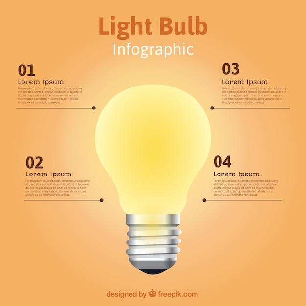 Lightbulb Infographic Template Vector