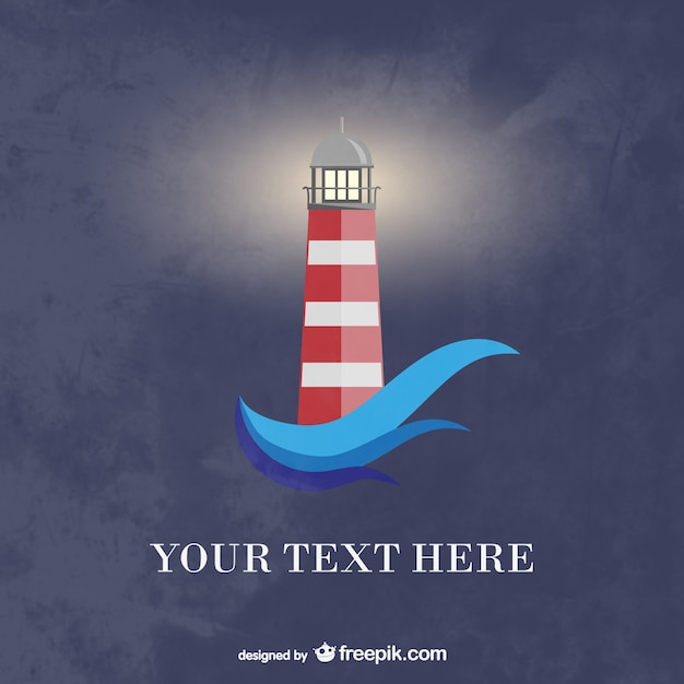 Lighthouse background Free Vector
