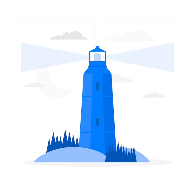 Lighthouse concept illustration Free Vector