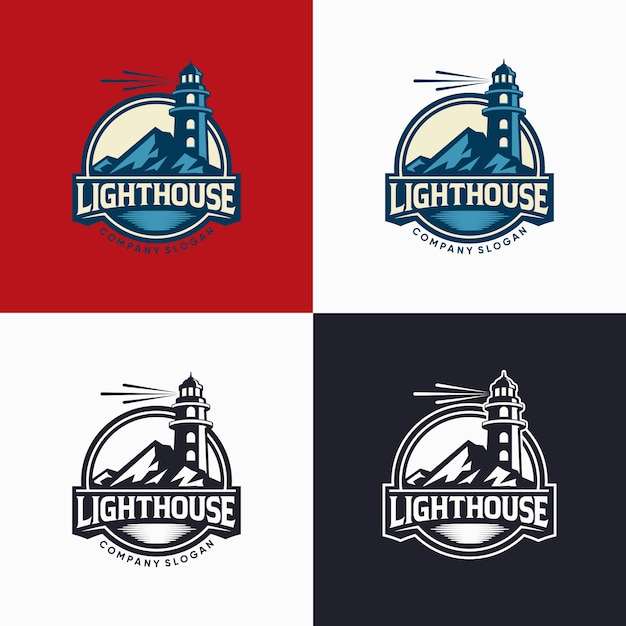 Lighthouse logo design template illustration   Premium Vector