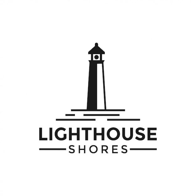Lighthouse logo design template vector illustration Premium Vector