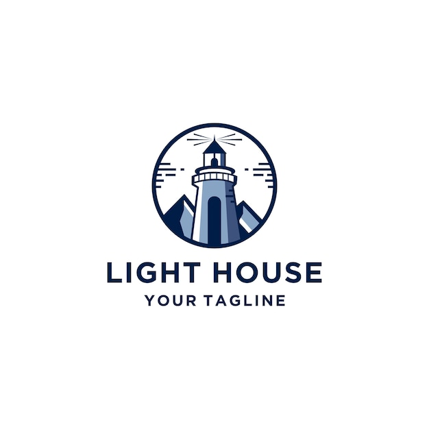 Lighthouse logo template Premium Vector