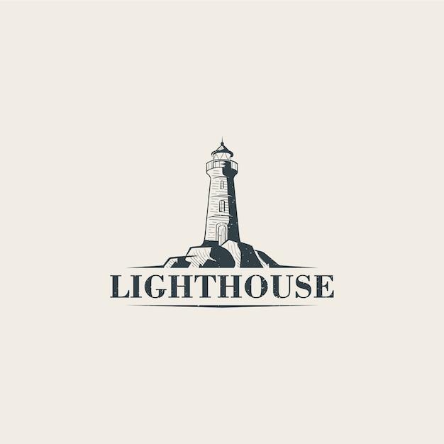 Lighthouse logo template Premium Vector