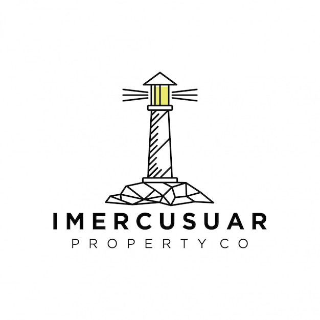 Lighthouse logo for your business Premium Vector