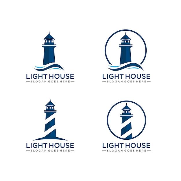 Шаблон логотипа lighthouse Premium векторы