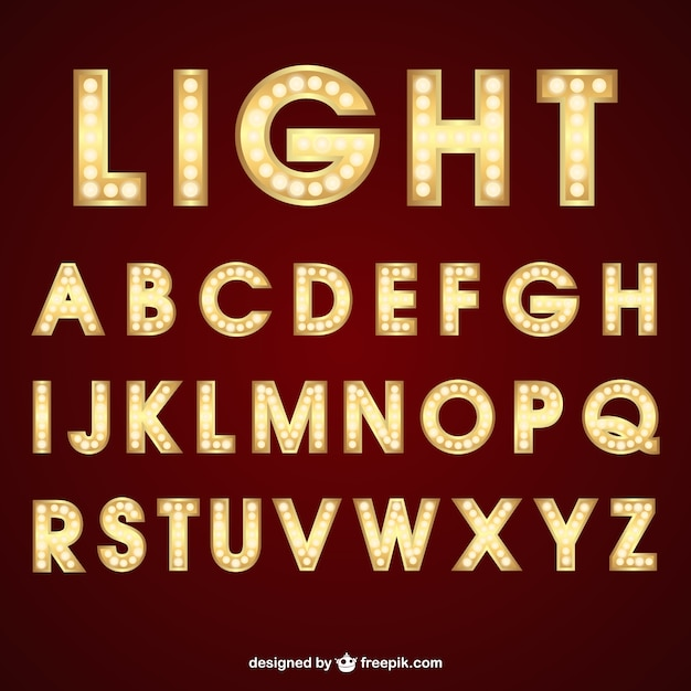 Lighting typography Free Vector