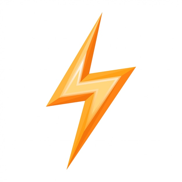 Lightning bolt icon vector Premium Vector