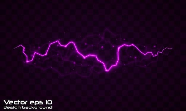 Lightning flash bolt. lightning magic and bright light effects. Premium Vector