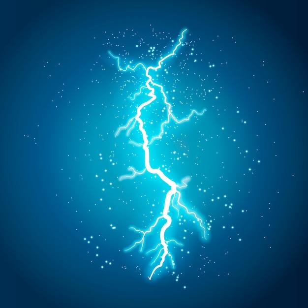 Молния вспышка света гром искры на прозрачном фоне Premium векторы
