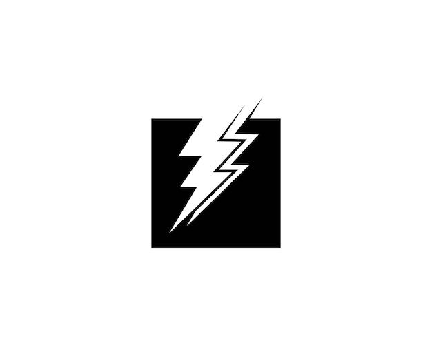 Lightning icon vector template Premium Vector