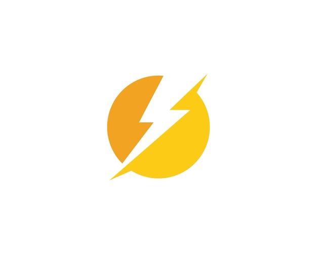 Lightning thunderbolt logo Premium Vector