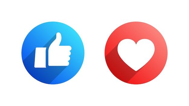 のようなと心facebookフラットアイコンセット Premiumベクター