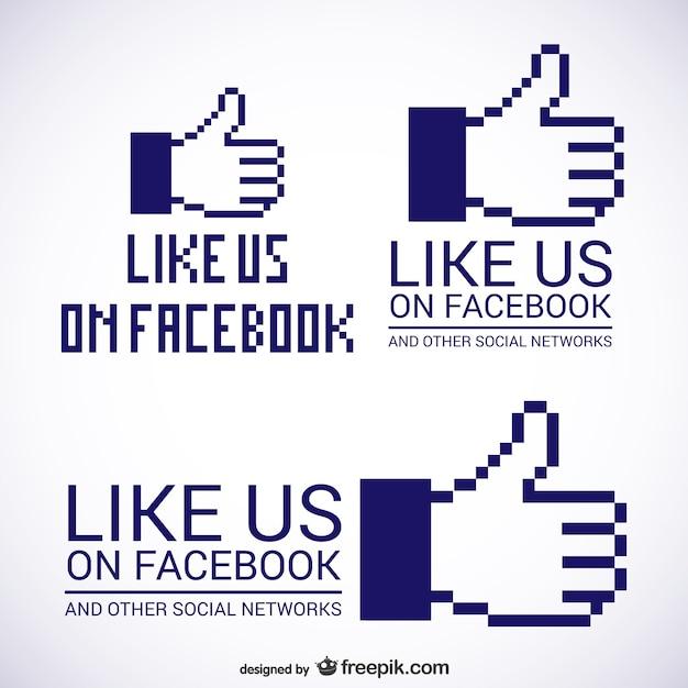 Free Vector Like Us On Facebook Logos