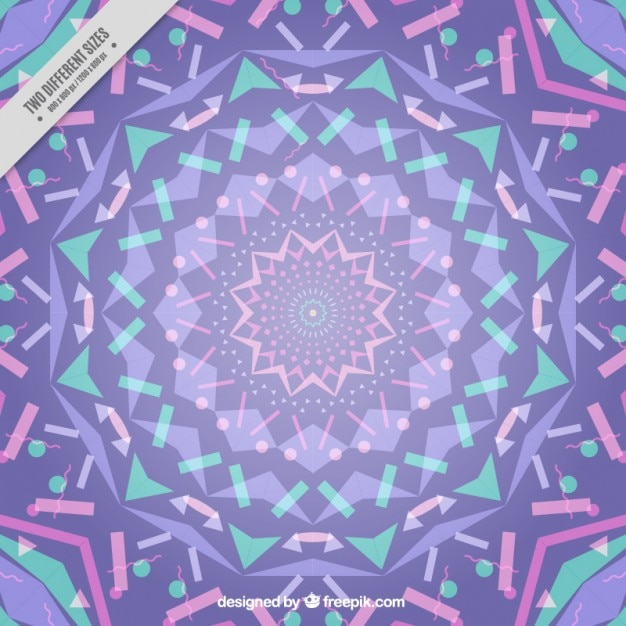 Lilac kaleidoscope background Free Vector