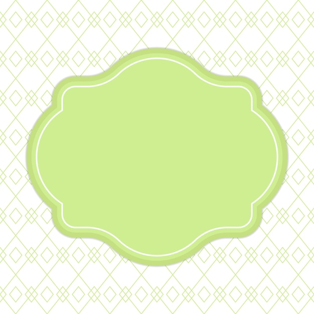 Lime green ribbon banner frame for text template background Vector ...