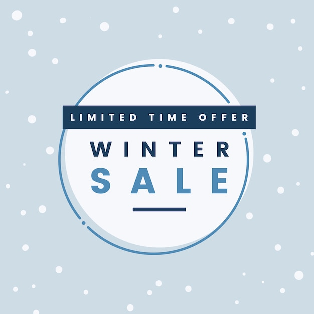 Limited time offer winter sale vector Free Vector