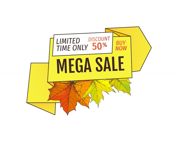 Limited time only buy now discount promo label Premium Vector