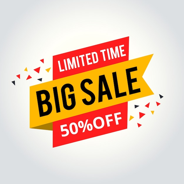 Limited Time Sale Tag, Big Sale Tag Vector