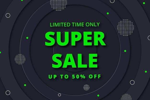 Limited time super sale dark background Free Vector