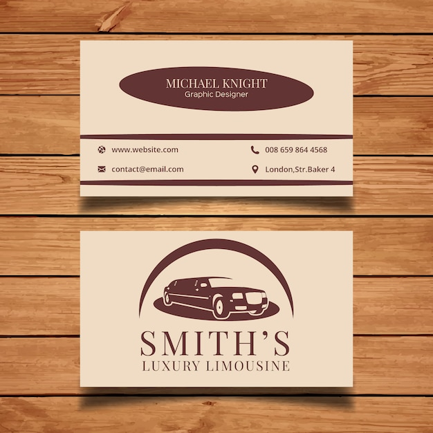 Limousine business card Free Vector